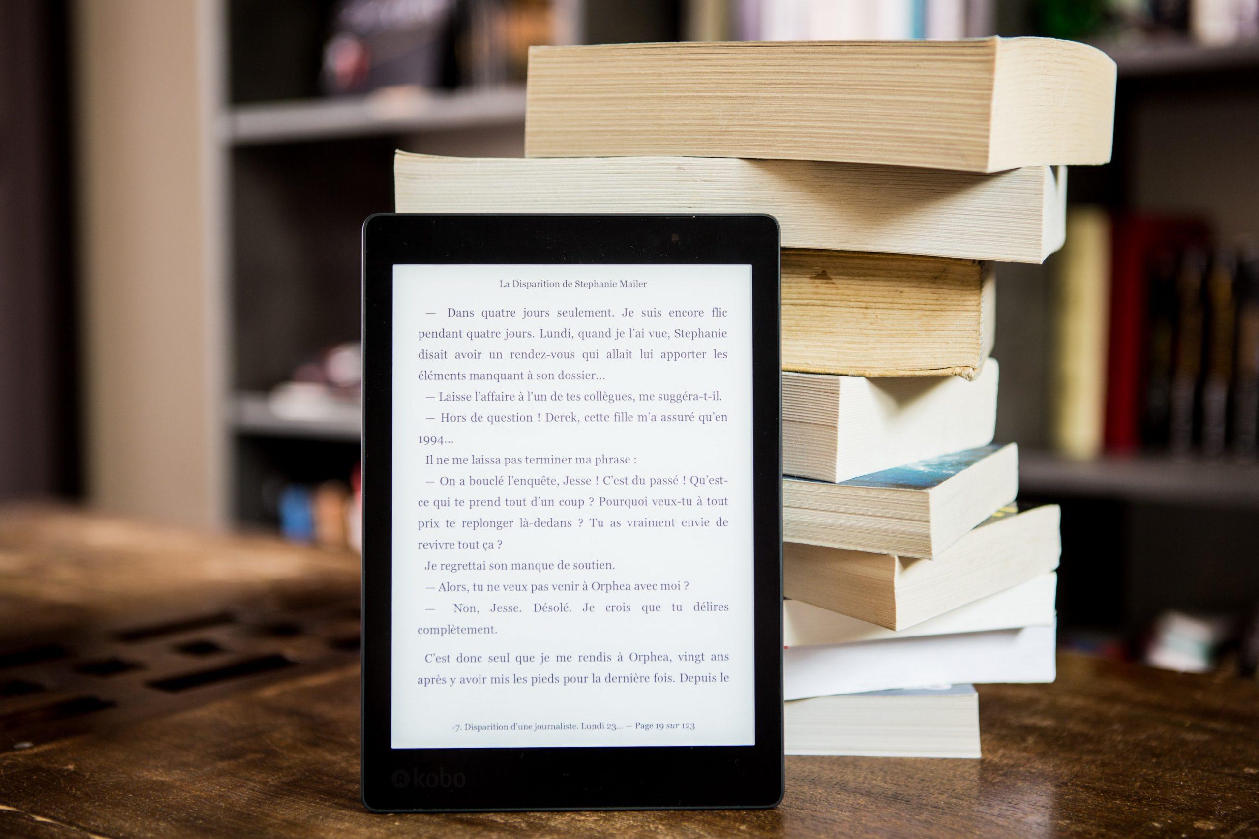 Livres en papiers versus livres numériques